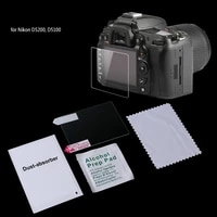 Tempered Glass Camera LCD Screen Protector Guard Cover Film For Nikon D5200 New