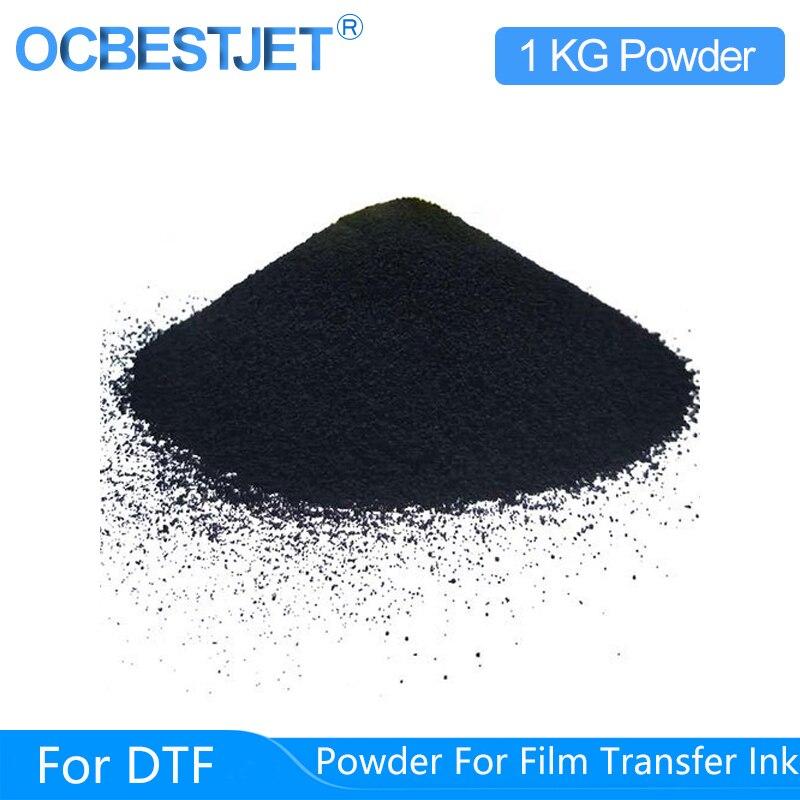 1 كجم مسحوق سحري أسود للنقل المباشر طبع أغشية للطباعة حبر DTF PET طبع أغشية ونقل