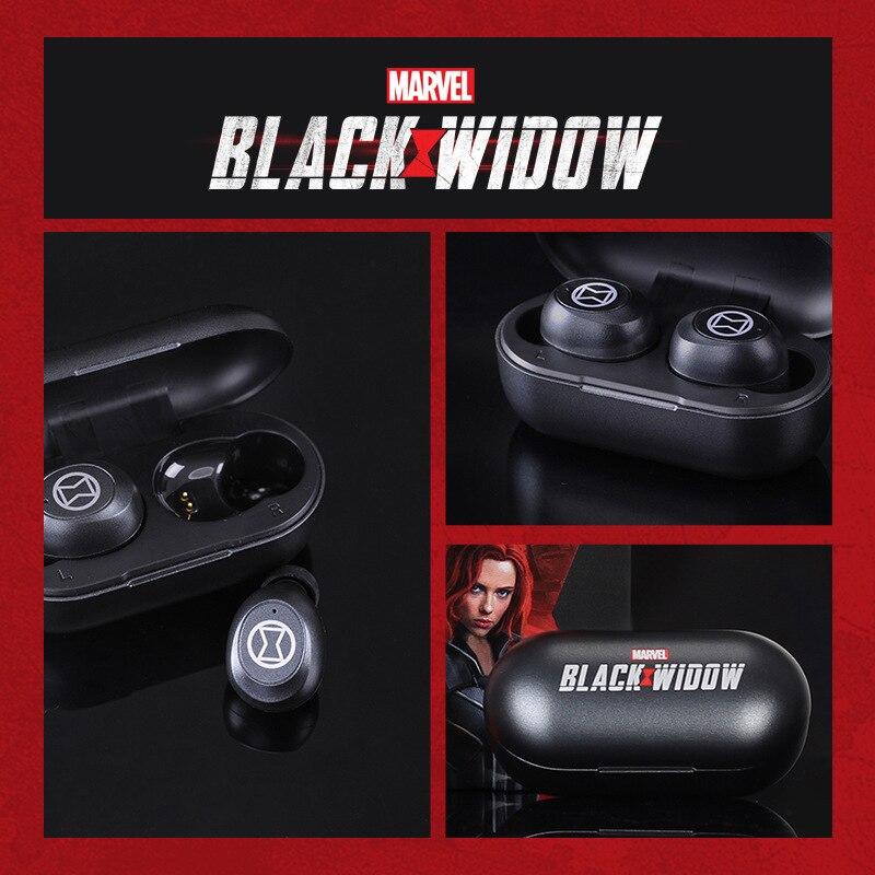 2021 Disney Marvel Black Widow True Wireless In-ear Bluetooth-compatible Sports Music Mini Universal Headset enlarge