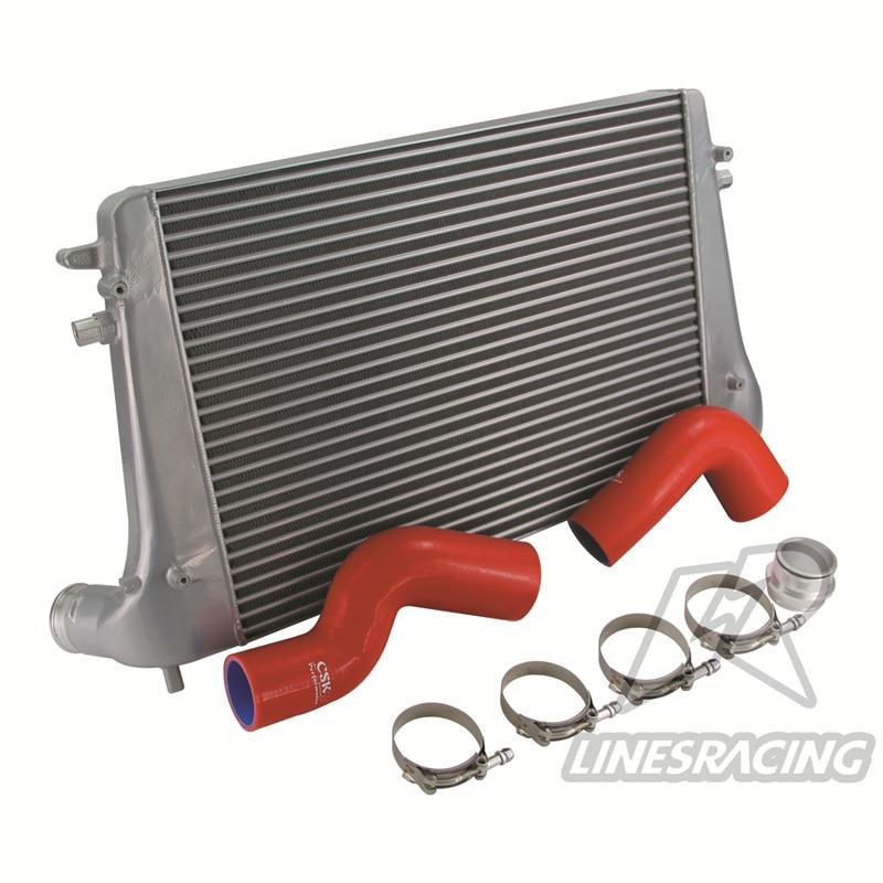 Conjunto de Intercooler encaja para VW MK6 Golf Passat Beetle Touran Skoda Octavia/Superb Audi A3/TT Seat Leon 1,6/2.0TDI rojo