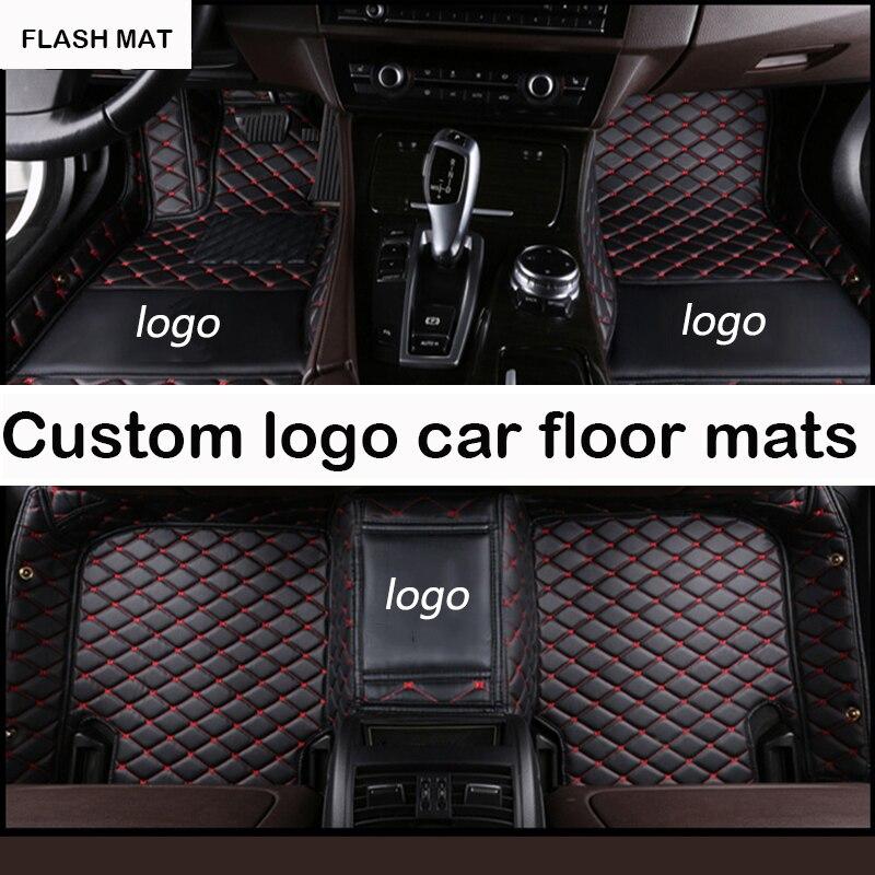 Alfombrillas de coche con logotipo personalizado para Jaguar todos los modelos Jaguar XF 2008-2017 XE XJ F-PACE F-TYPE accesorios de coche