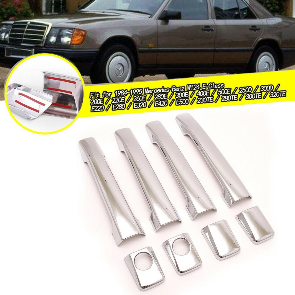 EIDRAN-cubierta cromada de puerta para coche, manija de puerta para MERCEDES W124...