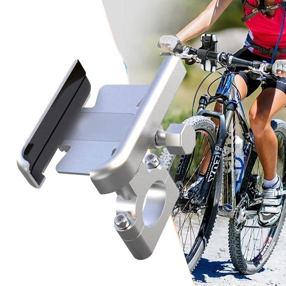Soporte de teléfono de bicicleta CNC manillar de motocicleta soporte de teléfono móvil aleación de aluminio 360 rotación accesorios de montaje de bicicleta de carretera