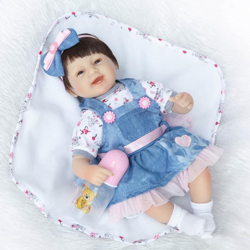 NPK Linda muñeca simulada realista bebé juego casa juguetes regalo