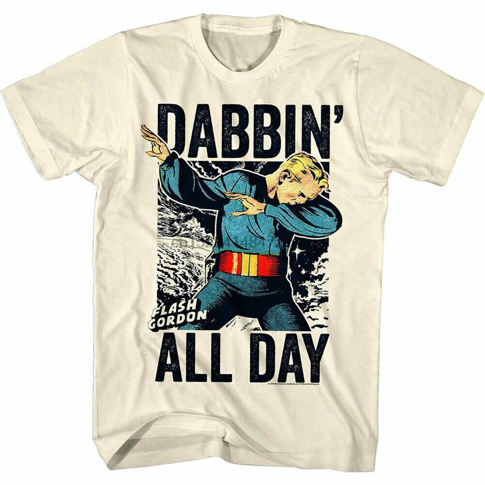 Flash Gordon Dabbin All Day Mens T Shirt Space Rocket Vintage Comic Book Merch