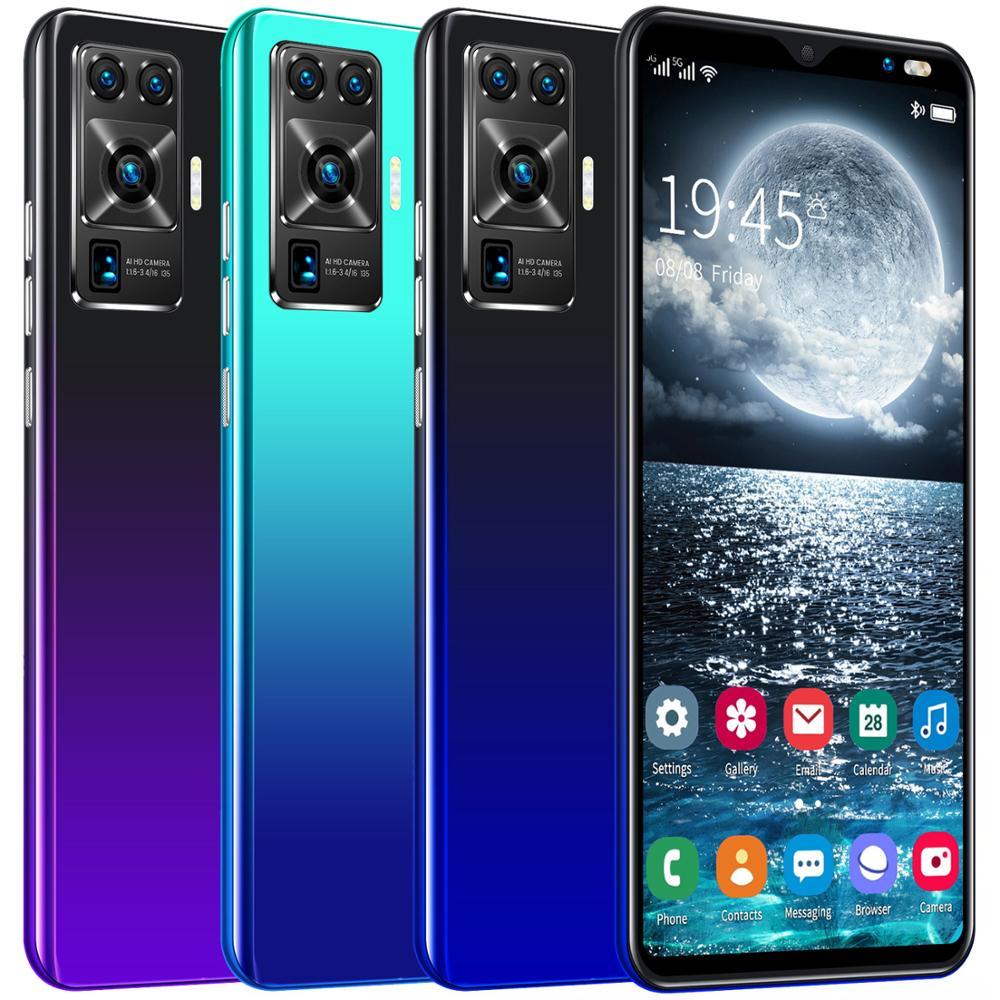 New Arrival X50 mini 5.8 Inch Full Screen 4GB RAM 64GB ROM Smartphones 4800mAh 8+16MP Andriod Phones 8 Core Dual SIM Cellphones