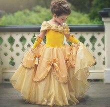Robe Belle princesse Cosplay pour filles   Vêtements de fête danniversaire, longue robe dhalloween cendrillon, pour enfants, nouvelle collection
