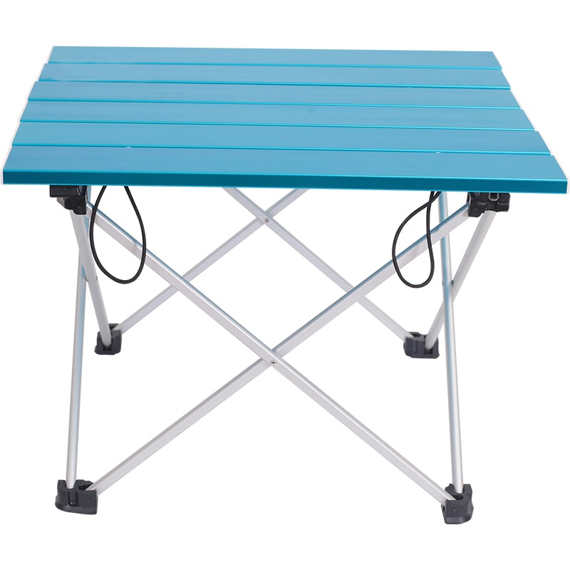 Mesa plegable ultraligera de aluminio para acampar al aire libre, mesa de Picnic gris azul Rosa tamaño 40x34,5x29CM con bolsa de transporte