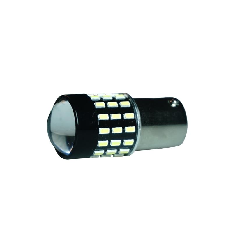 Высокояркая автомобильная лампа Canbus 3014 SMD, светодиодная автомобильная лампа s, лампа заднего хода, автомобильная лампа поворота 1156 BA15A 54W DC12V