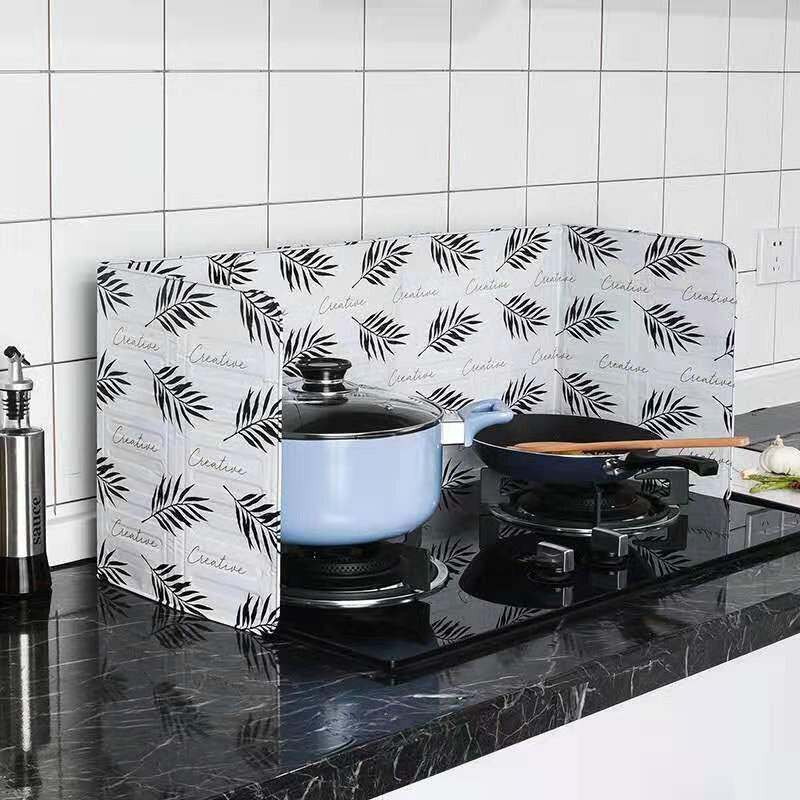 Protector de salpicaduras de aceite de pared estufa de Gas lámina de aluminio Estilo nórdico deflector de aceite cocina a prueba de salpicaduras de grasa tablero de cocina