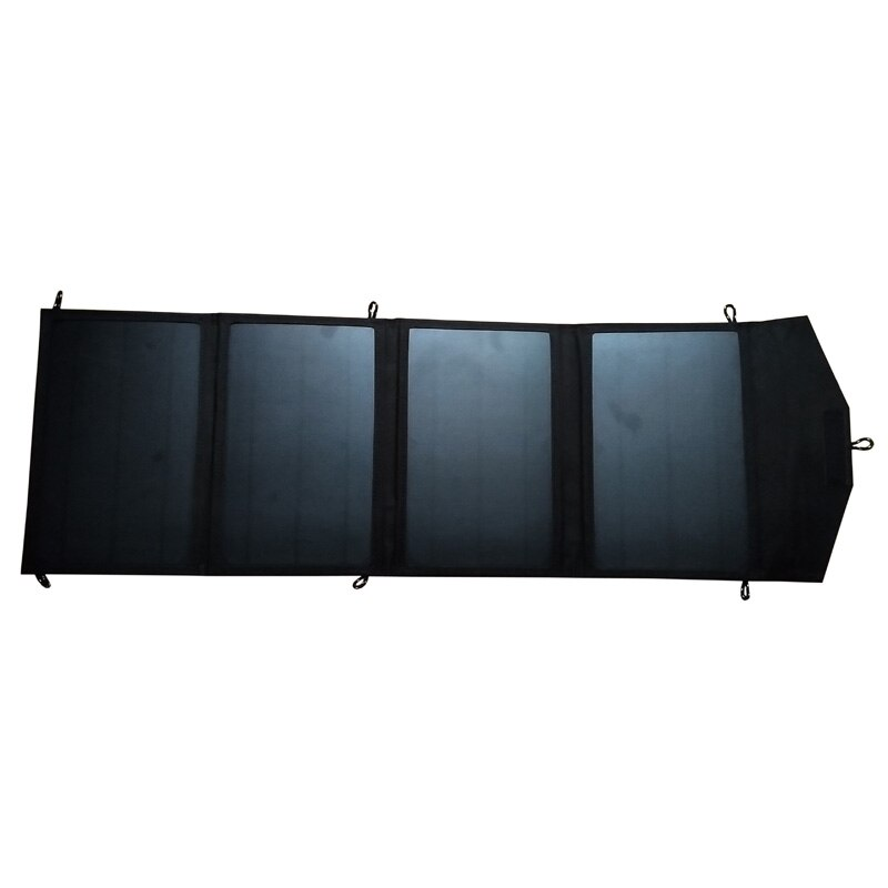 GGX energía 28 vatios USB 5V Max 4A Cargador Solar portátil para teléfono banco de energía exterior Camping plegable Solar panel libre de energía solar
