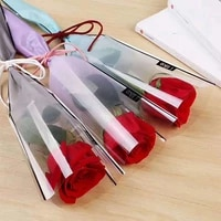 5pcs transparent flower packing bag wrapping paper bag for bouquet rose gifts material wedding party florist supplies