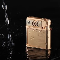 kerosene lighter autmatic ignition pure copper kerosene lighter pink fmale cigarette lighter accessories windproof waterproof