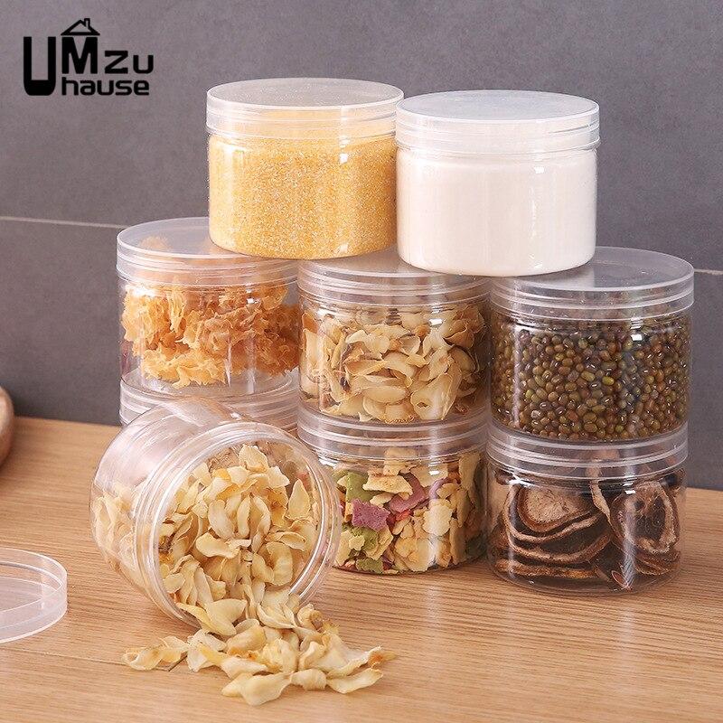 Organizador para armazenamento de alimentos, recipientes para plástico, vedação de garrafas transparente para organizar alimentos, cozinha e casa