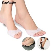1pair silicone toe covers high heels forefoot pads anti wear feet relieves hallux valgus foot pain gel protector foot care tool