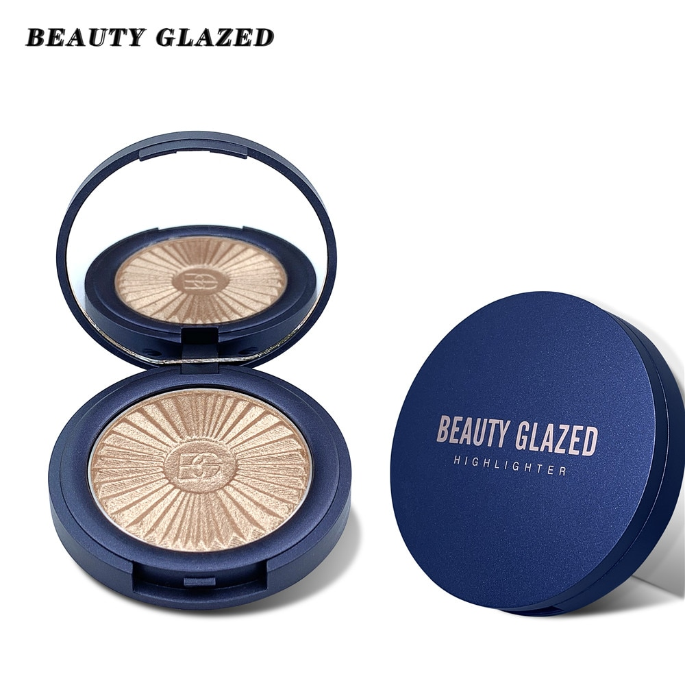 BEAUTY GLAZED New Highlighter Powder paleta 8 colores de alto brillo polvo brillante Bronzer reparación Haileyter paleta de maquillaje cosmético
