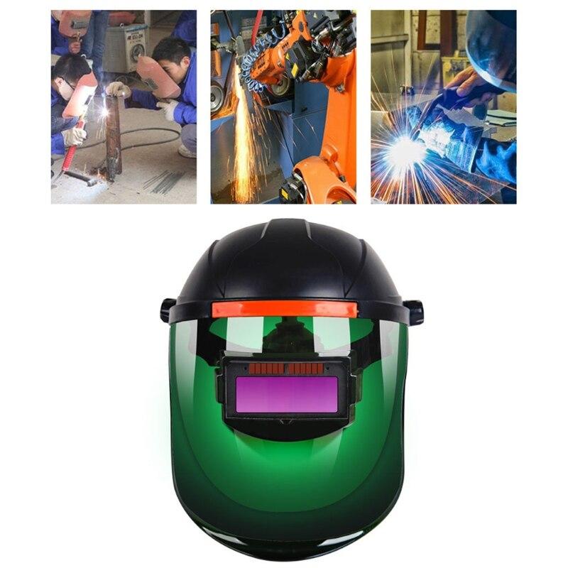2021 New  Auto Darkening Welding Helmet Mask Adjustable Shade Welder Solar Power Supply Cap Welding Equipment