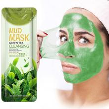 Green Tea Cleansing Mud Mask Oil Control Anti-Acne Peach Mud Masks Trial Pack Purifying Clay Stick M