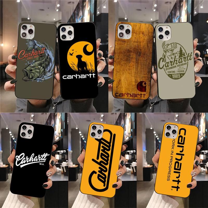 Kleding Merk Carhartt Bling Leuke Telefoon Case Voor Iphone 11 Pro Xs Max 8 7 6 6S Plus X 5S Se 2020 Xr Case