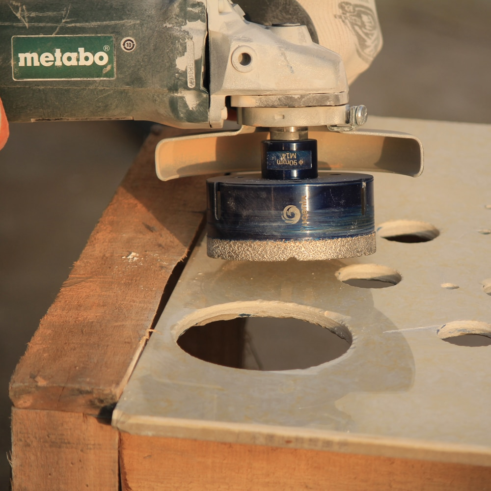 Raizi Diamond Drill Bits Porcelain Ceramic Tile Hole Saw Cutter Set For Marble Granite M14 Vacuum Brazed Tile Drilling Tools enlarge