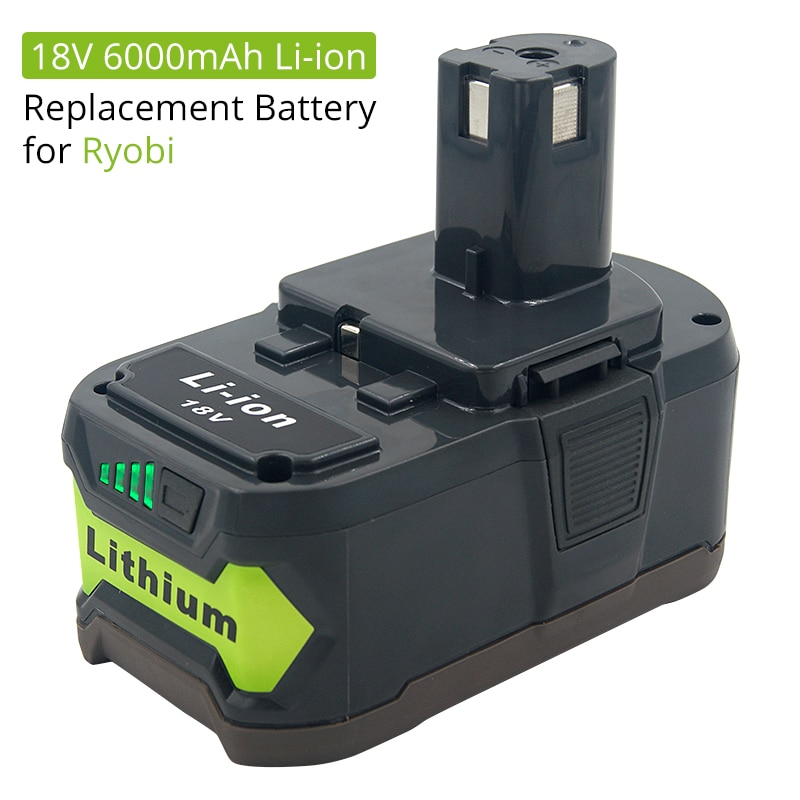 18V 6000mAh Li-ion Batterie Rechargeable pour Ryobi ONE Outils Électriques sans fil BPL1820 P108 P109 P106 P105 P104 P103 RB18L50 RB18L40