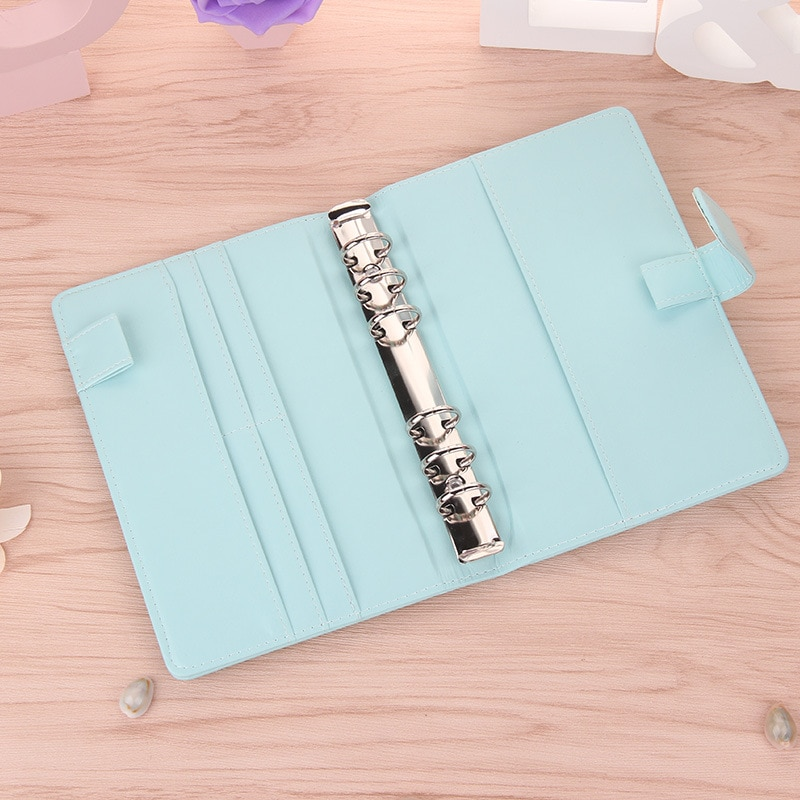 A6 A5 Notebook Cute Ring Diary Leather Cover Journals Office Personal Binder Weekly Planner Agenda Organizer