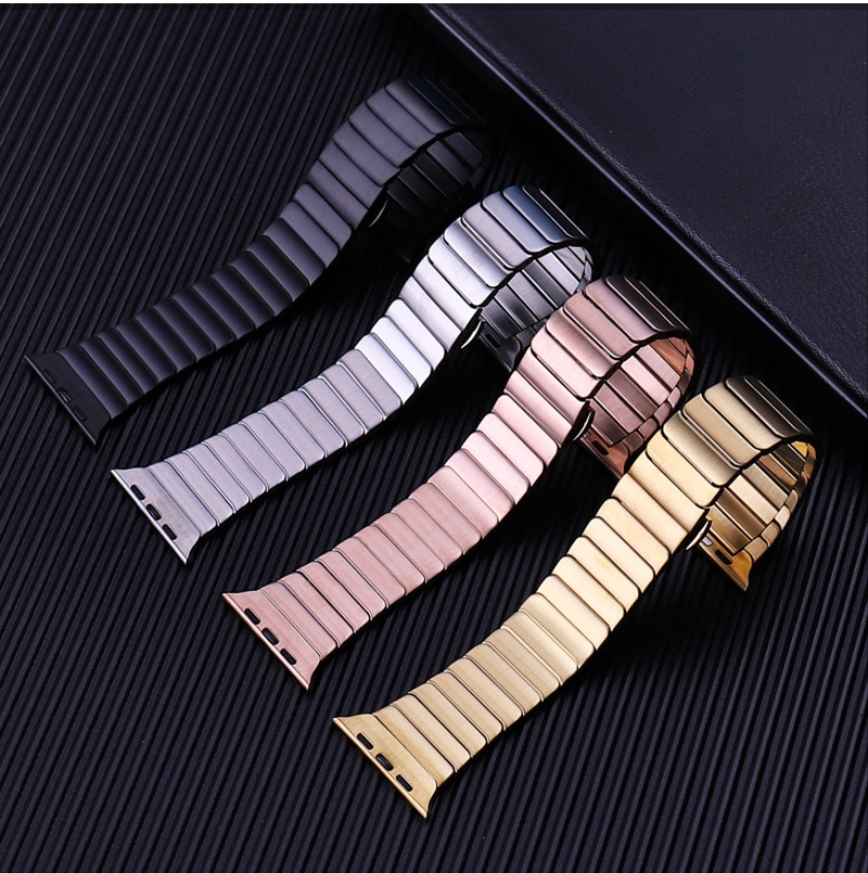 for apple watch band 44mm 40mm 38mm 42mm metal bracelet stainless steel strap for apple watch series se 6 5 4 3 2 1 watchband Metal link bracelet for apple watch 6 44mm 40mm iWatch band 42mm 38mm stainless steel strap apple watch series 6 SE 5 4 3 band