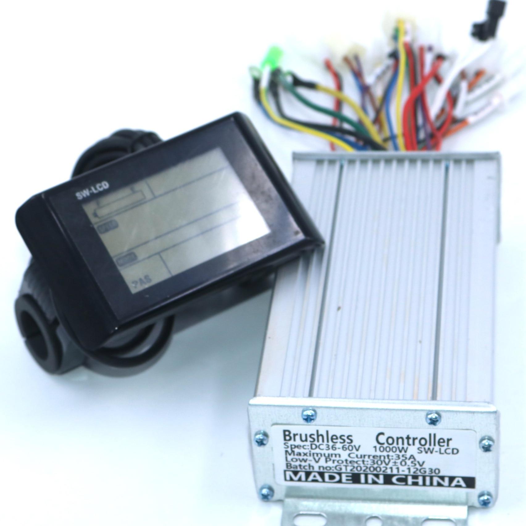 Brushless DC Motor Controller 48-60V 2000W Set Ebike Controller+SW900 LCD Dsplay
