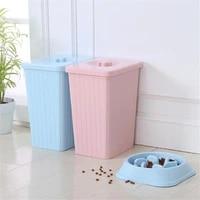 dog food bucket plastic pet cat moistureproof storage box large capacity sealed barrel puppy fresh foods airtight container
