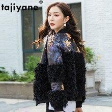 Véritable manteau de fourrure femme en cuir véritable laine veste automne hiver en peau de mouton vers le bas manteau femmes vêtements 2020 coréen Vintage hauts ZT4093