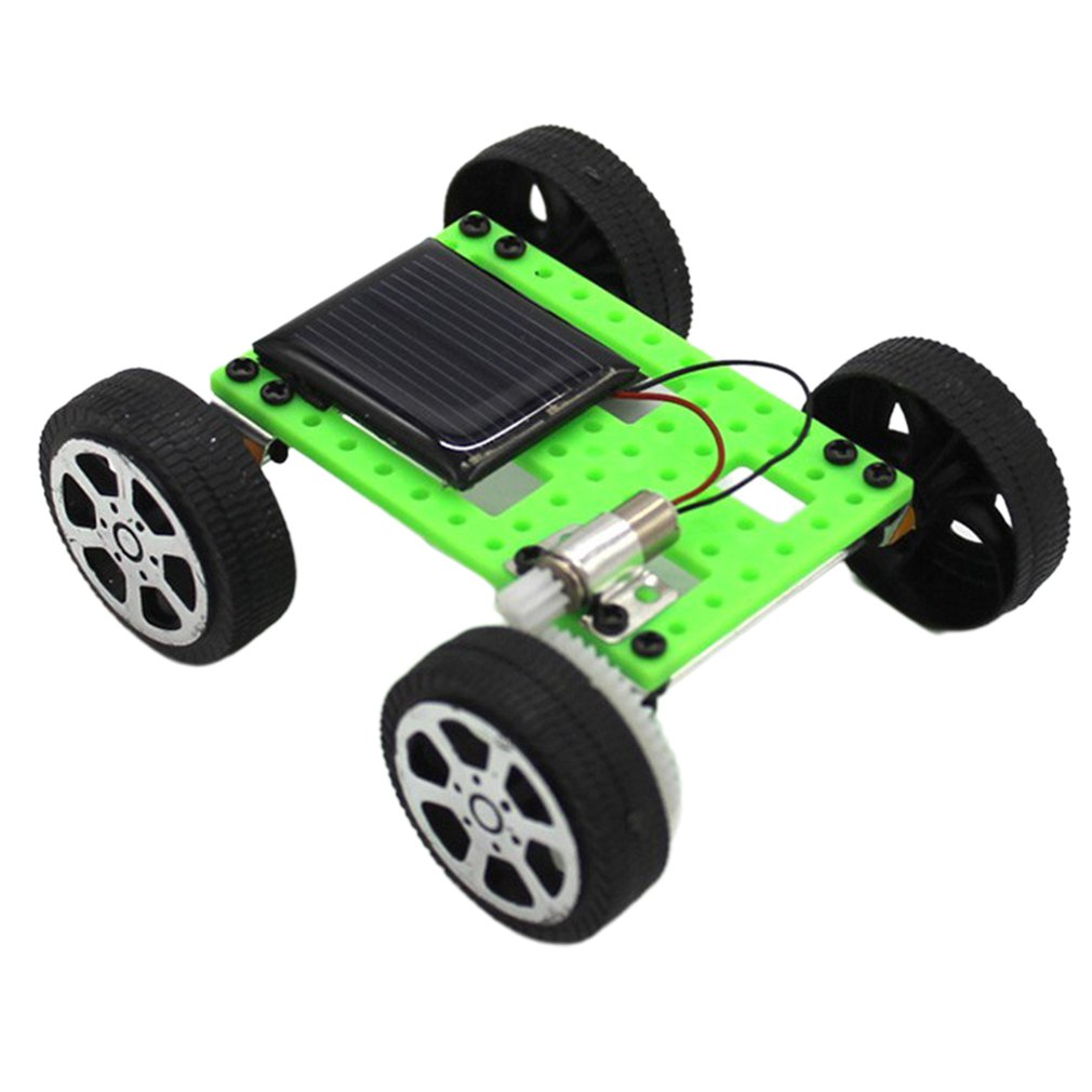 Solar Toy Mini Portable Powered Car Educational Funny Hobby Christmas Gift For Children With Panels