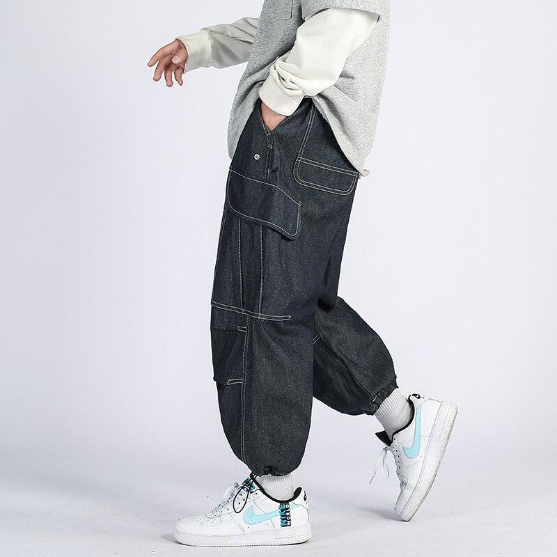 Мужские шаровары высокого качества, модные новые длинные брюки с карманами, спортивные брюки, повседневные мужские классические уличные по...