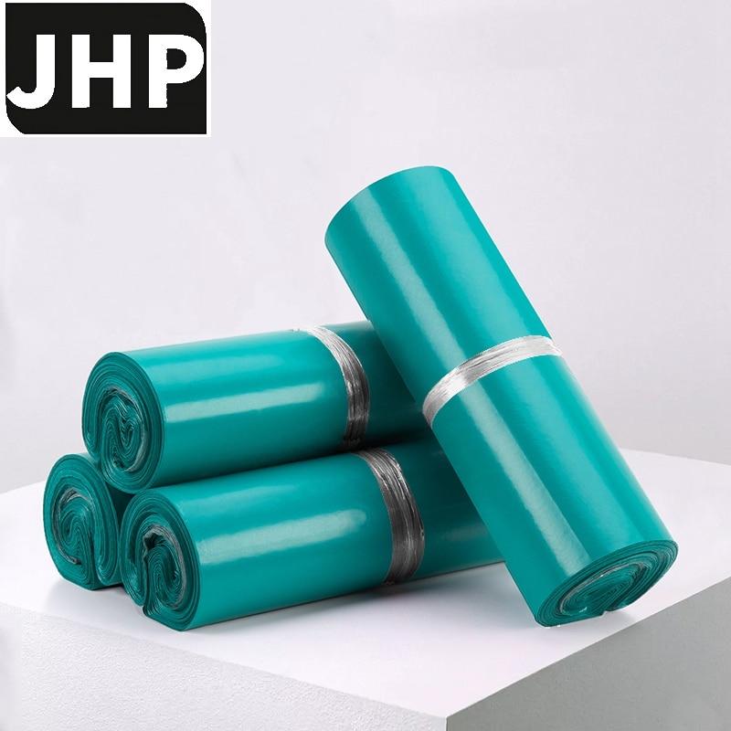 100PC Lake Blue Color Medium and Small Size PE Self-adhesive Express Storage Bag Plastic Envelope Poly Mailer Glue Seal Bag