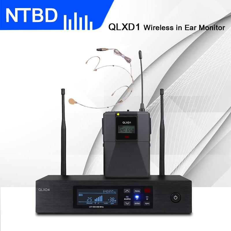 سماعات رأس NTBD عالية الجودة عالية الأداء لسماع الكلام والغناء على شكل هيب هوب طراز QLXD1 Bodypack مع ميكروفون