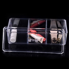 Rectangle Acrylic Stackable Cosmetic Organizer Box With Lid To Hold Makeup, Beauty Products - Dustpr