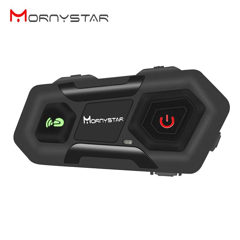 1pcs Mornystar M2 1600m for 3Riders Intercom Motorcycle Bluetooth Helmet Headsets BT moto intercomunicador with FM radio