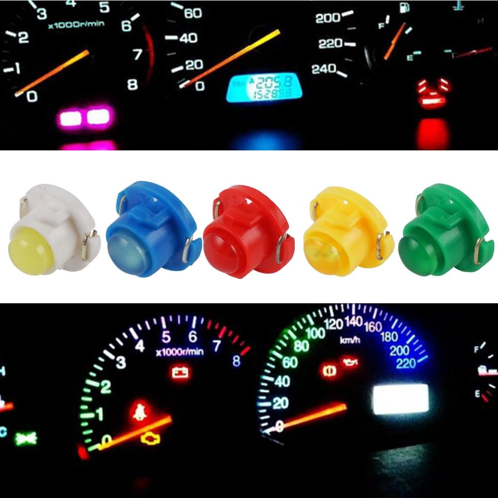 Panel de instrumentos LED SMD para coche 10x T4.7, Panel de instrumentos blanco, azul hielo, rojo, rosa, verde, rojo, bombillas de cuña Neo