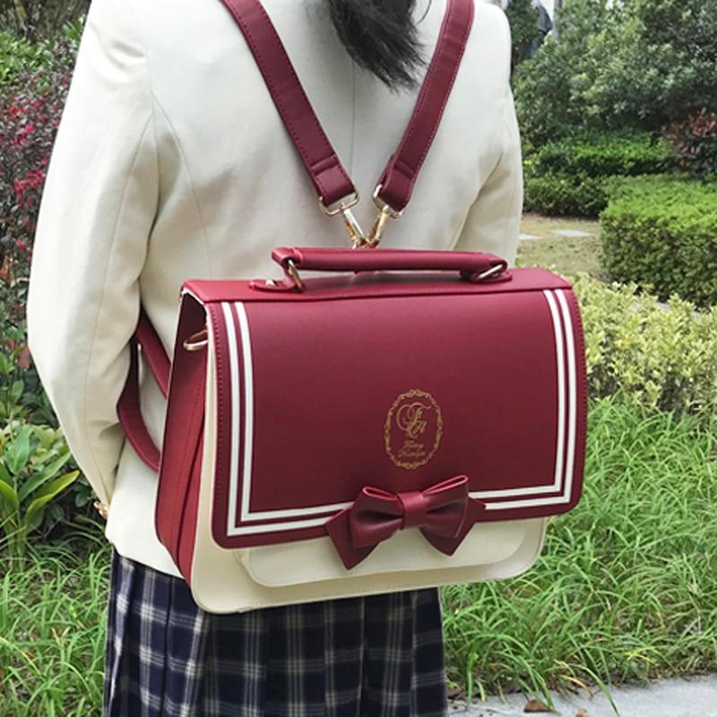 اليابانية كلية نمط JK موحدة حقيبة الطالب الركاب حقيبة بو الجلود حقيبة وصل جديد