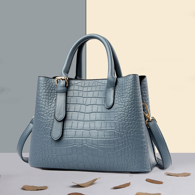 Shopper bag Big Capacity Soft Leather Women's Handbags Alligator Tote Bags Lady High Quality Leather Shoulder Bags For Women
