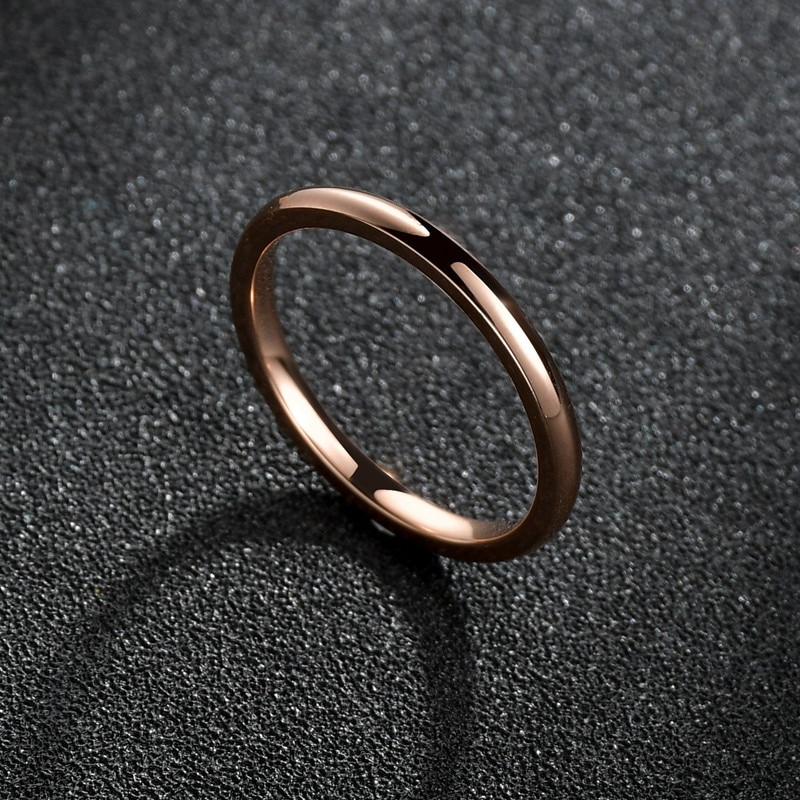 Alta calidad Simple moda Superfina Pequeño anillo de acero inoxidable anillos para boda para hombres amantes pareja joyería