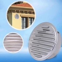 stainless steel round exterior wall air vent grille round ducting ventilation grille 80100120160mm louver air vent air outlet