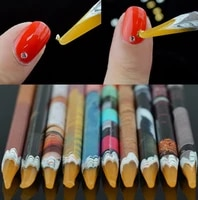 1pc manicure with sticky point drill pen stick diamond jewelry special pen point drill tool stick drill pen color crayons h