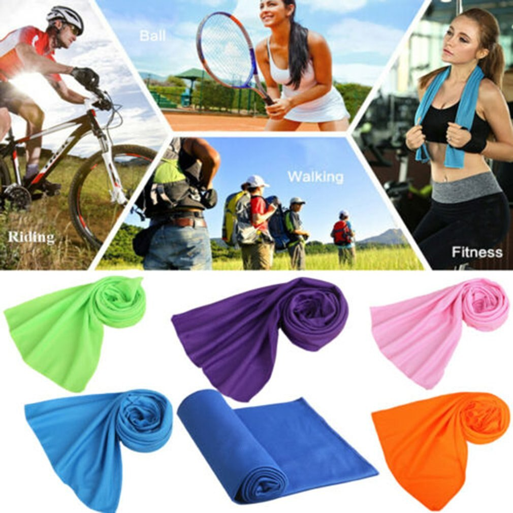 South Korea Magic Cold Towel Sports Summer-Proof Cold Towel Monochrome Full Polyester Cold Silk Towel