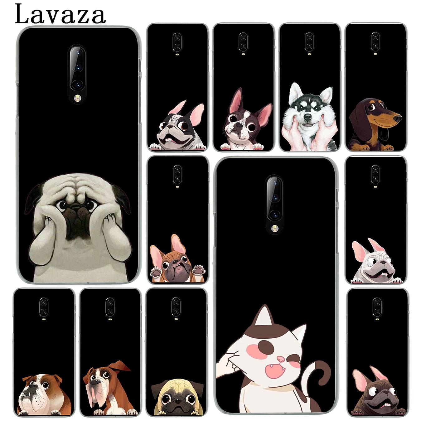 Cute Pug Dog divertido Bulldog corgi funda de plástico duro para teléfono móvil Oneplus 7T 7 Pro 6 6t 5 5T funda One Plus 7Pro