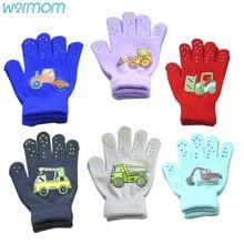 Warmom Children Gloves Winter Baby Boys Girls Warm Gloves Infant Baby Mittens Children Toddler Kids Full Finger Mittens