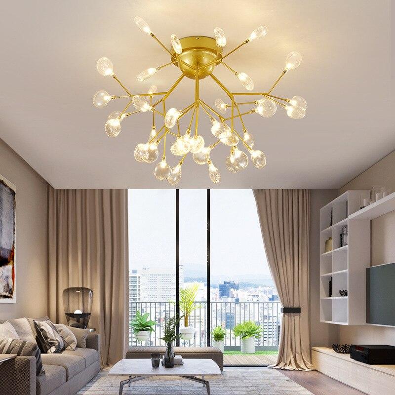 سقف ليد حديث مصباح السقف الإضاءة غرفة المعيشة غرفة نوم الممر الممر مصباح السقف الإبداعية إضاءة المنزل AC110V/220 فولت مصباح