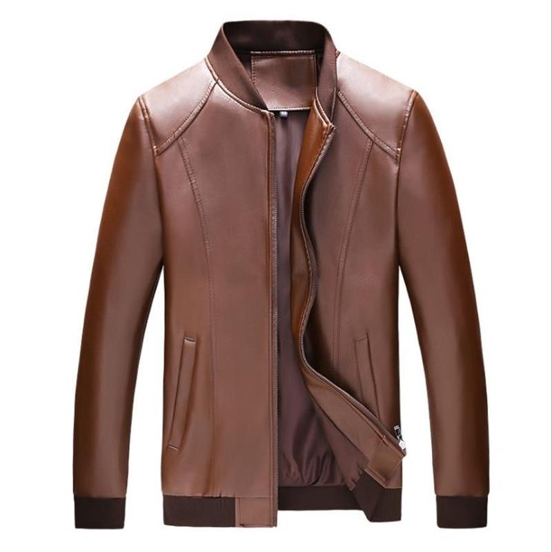 Chaquetas de cuero de talla grande para hombre, abrigos de piel de...