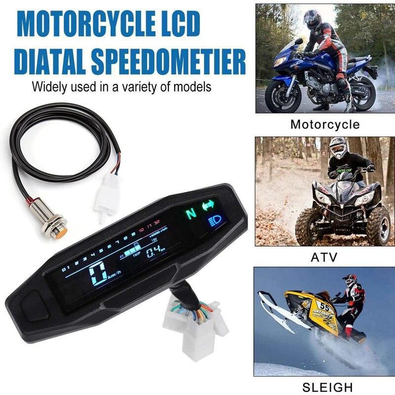 دراجة نارية LCD عداد السرعة الرقمي عداد المسافات الكهربائية حقن و المكربن متر لالروسية KR200