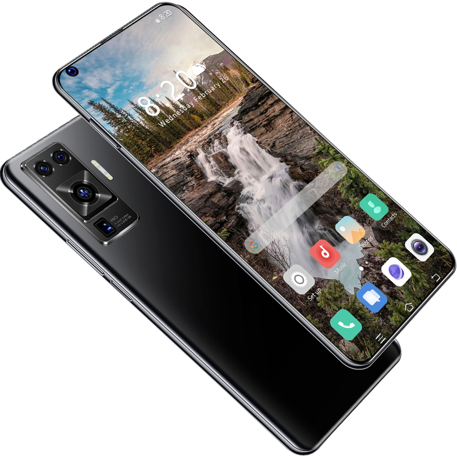 7.2 Inch 4G/5G Recognition Smartphone 8+256GB Large Memory  Mobile Phone Dual Sim Cards Bluetooth  Camera  Android 10.0 Ten Core