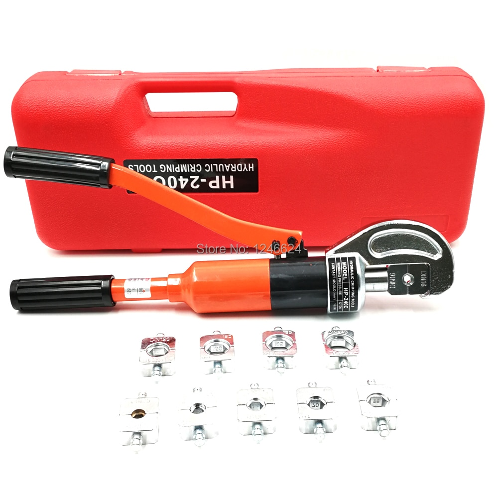 Haicable Cable Connector Hydraulic Crimping Tool HP-240C For Cable Lug Wire Clamp Pipe With Hexagon Die 16-240MM2 Wire Crimper enlarge